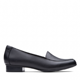 Clarks Juliet Lora Black Leather Womens Shoes